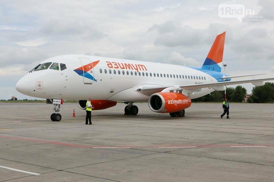 В Ростов прибыл первый суперджет авиакомпании «Азимут», фото-1, Фото: пресс-служба аэропорта Ростова-на-Дону