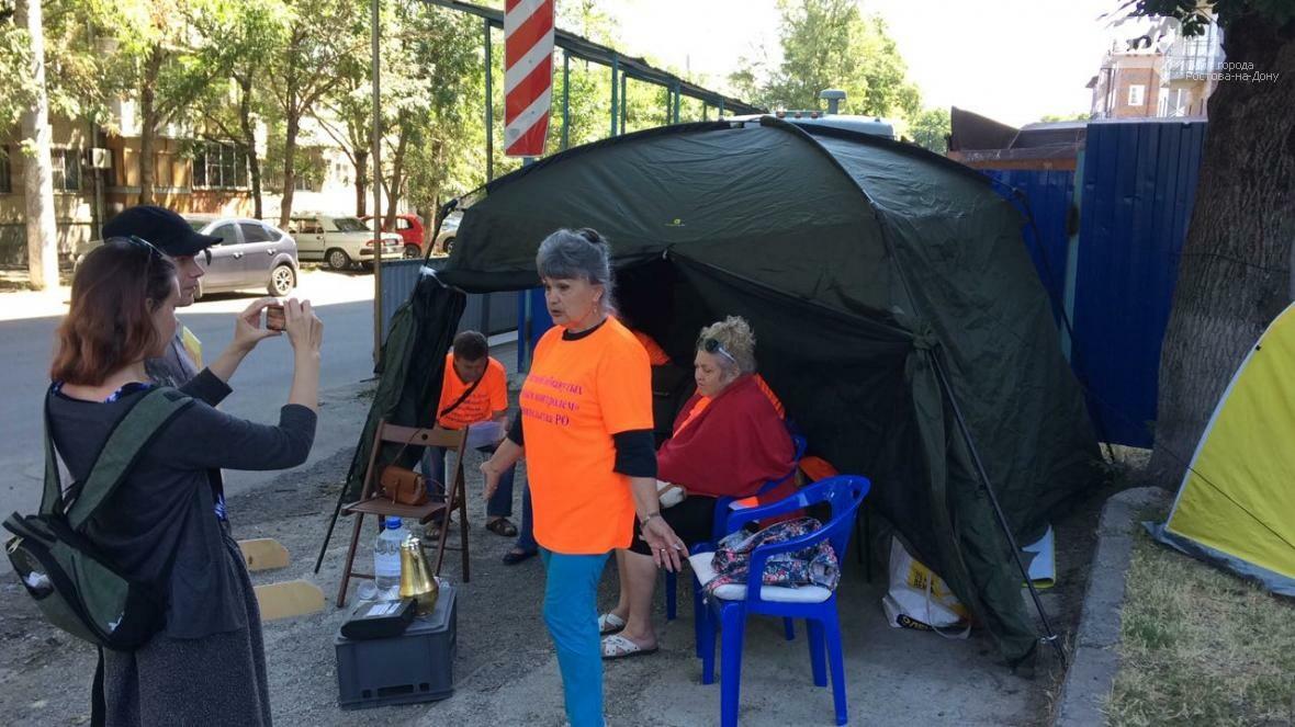 В Ростове на Баррикадной обманутые инвесторы объявили голодовку, фото-1