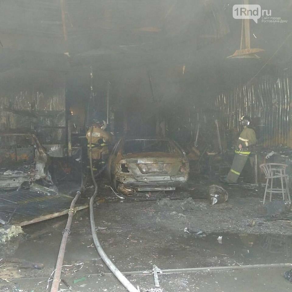 Более десяти машин сгорели при пожаре в ростовском автосервисе, фото-2
