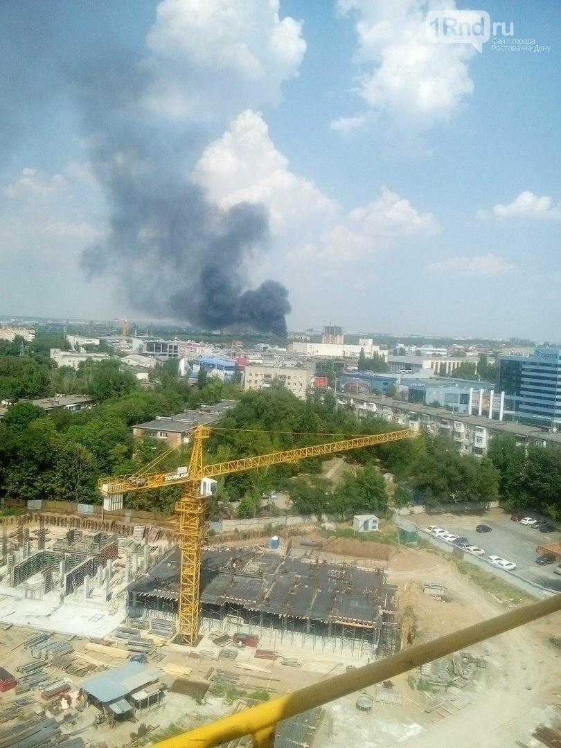В Ростове на территории бывшего завода «Электроаппарат» произошел пожар, фото-1, Фото: соцсети