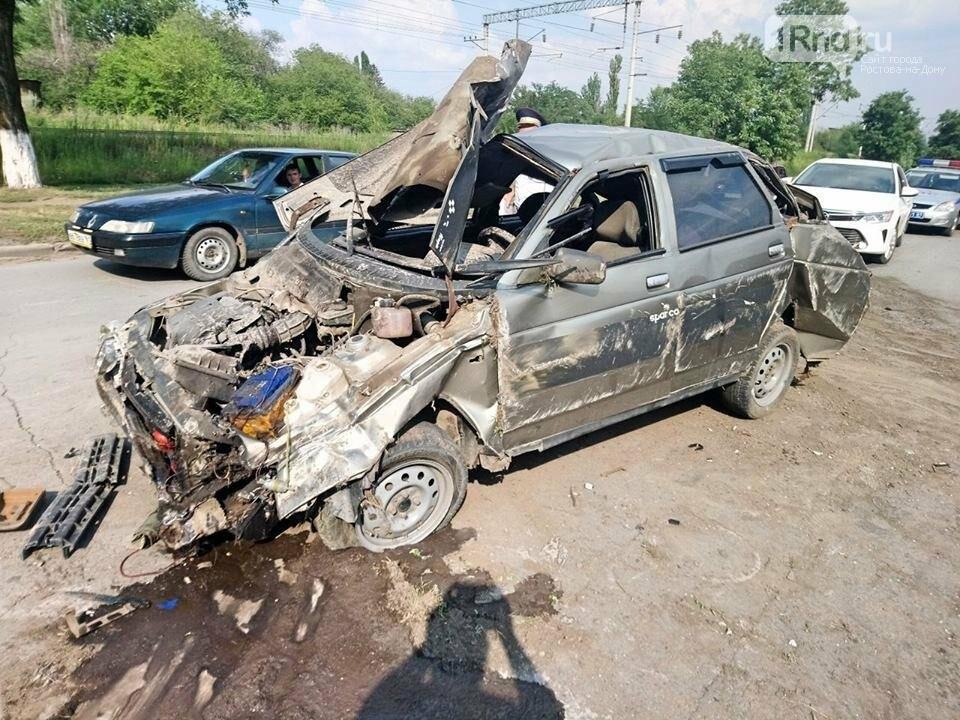 """В Красном Сулине 34-летняя женщина-водитель врезалась в бетонный забор, фото-6, Фото:группа """"Красный Сулин"""" в facebook """""""