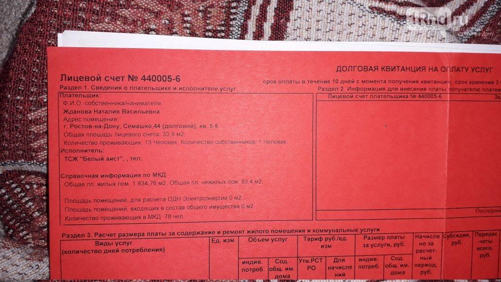 Ростовчанке начислили долг за коммуналку почти 200 тысяч рублей и приписали несуществующих жильцов, фото-1, Наталья Жданова
