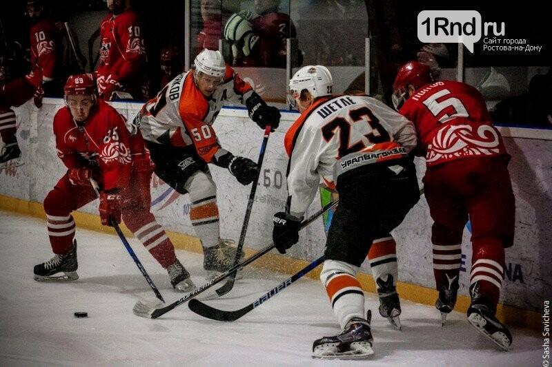 Хоккей на «Айс Арене»: «Ростов» разгромил команду из Нижнего Тагила - Фото: Саша Савичева / 1rnd.ru