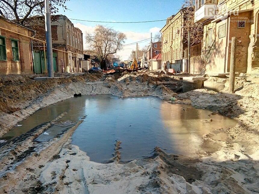 Первые рельсы и тротуары появились на улице Станиславского в Ростове, фото-5