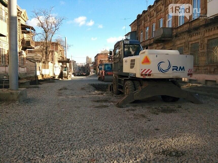 Первые рельсы и тротуары появились на улице Станиславского в Ростове, фото-6