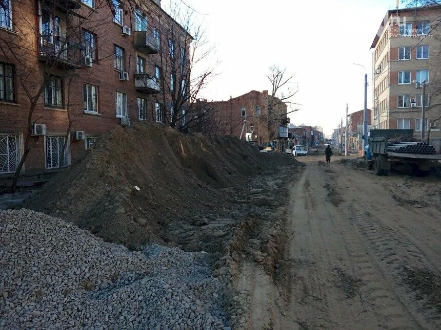 Первые рельсы и тротуары появились на улице Станиславского в Ростове, фото-9