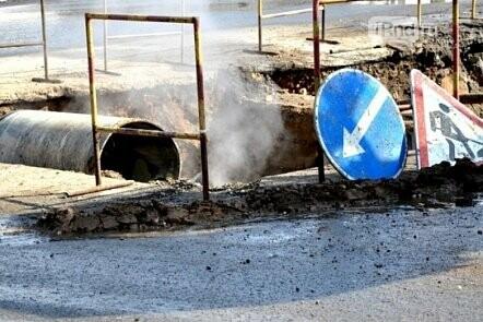 Порыв на теплотрассе произошел на Семашко в Ростове, фото-1