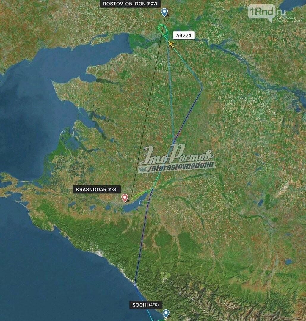 Пассажирский лайнер из Сочи не смог сесть в аэропорту Платов, фото-2