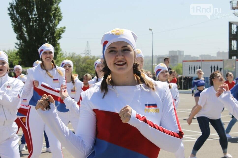 Ростовские студенты прошли парадным маршем перед ветеранами, фото-8
