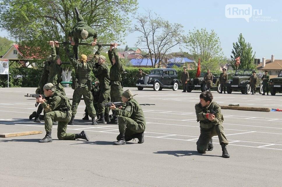 Ростовские студенты прошли парадным маршем перед ветеранами, фото-5