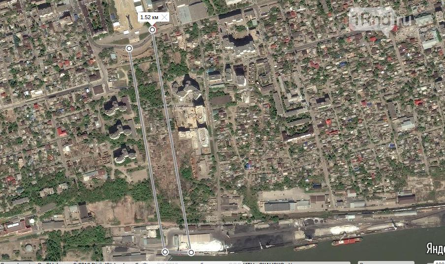 Серым цветом выделены переулки Чувашский и Краснофлотский, между ними пройдет пешеходная зона
