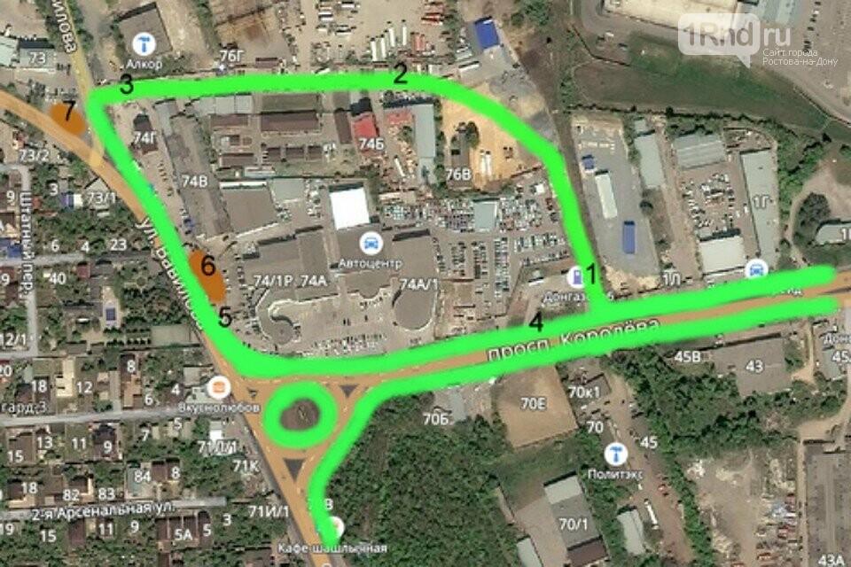 Ростовчанин предложил план улучшения схемы движения на Северном, фото-1