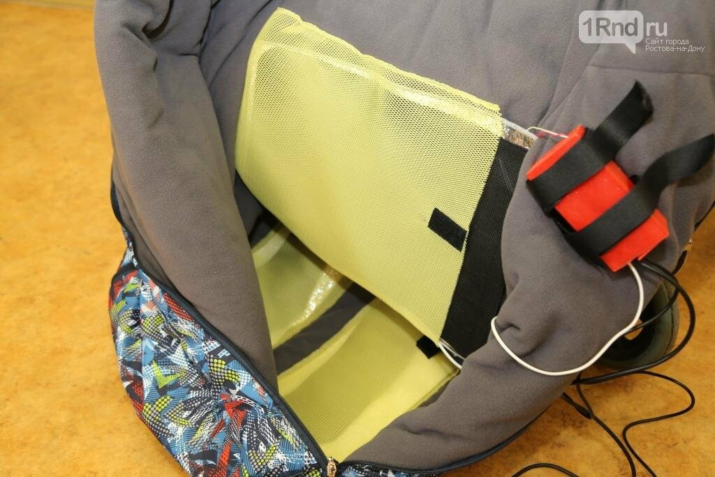 Чтоб не замерзнуть: шахтинские инженеры разработали теплозащитный мешок для колясочников, фото-1