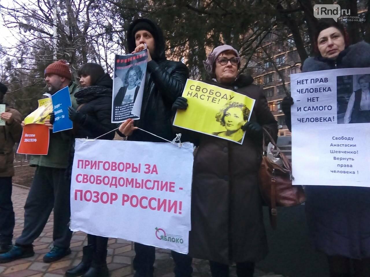 В Ростове прошел пикет в поддержу Анастасии Шевченко, фото-1