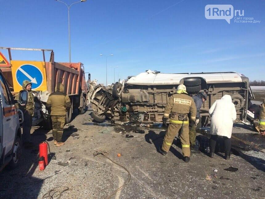 Шесть человек погибли в тройном ДТП с маршруткой Ростов - Миллерово  на трассе М-4, фото-2