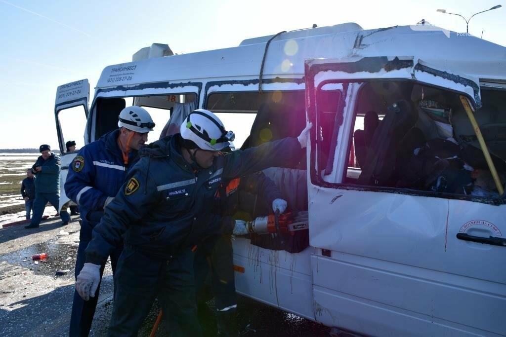 Шесть человек погибли в тройном ДТП с маршруткой Ростов - Миллерово  на трассе М-4, фото-7