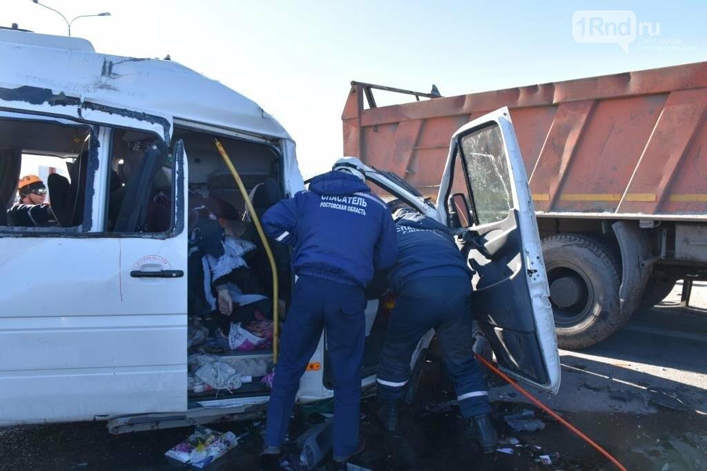 Шесть человек погибли в тройном ДТП с маршруткой Ростов - Миллерово  на трассе М-4, фото-6