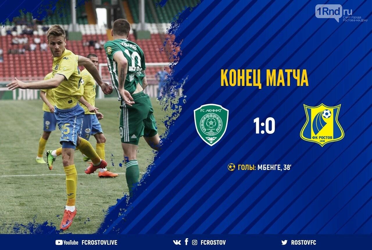«Ростов» уступил «Ахмату» в гостевом матче, фото-1