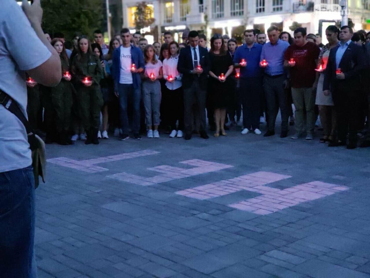 Ростовчане выложили из свечей слово «Нет» в память о жертвах теракта в Беслане , фото-1
