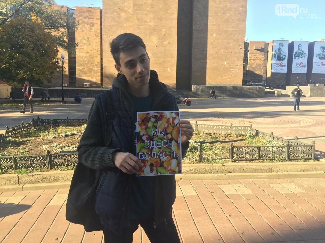 Ростовские студенты вышли на пикет в поддержку прав фруктового салата, фото-2