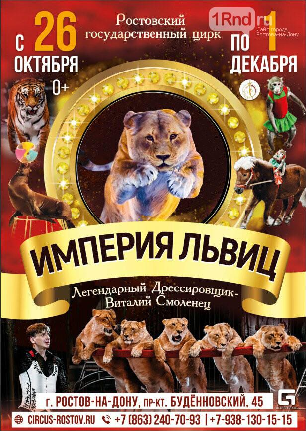 Афиша последних октябрьских выходных в Ростове: что посмотреть и куда сходить, фото-1
