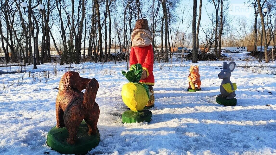 Ростовский парк Вересаева украсили очень странными фигурами, фото-12