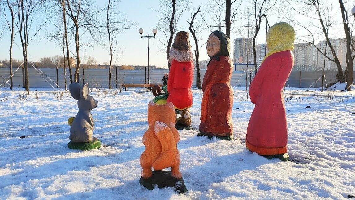 Ростовский парк Вересаева украсили очень странными фигурами, фото-6