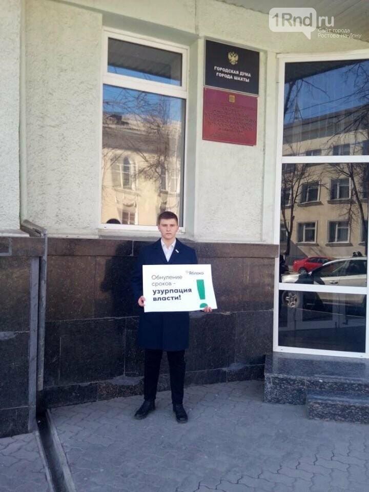 У шахтинской гордумы прошел пикет против изменения Конституции, фото-2