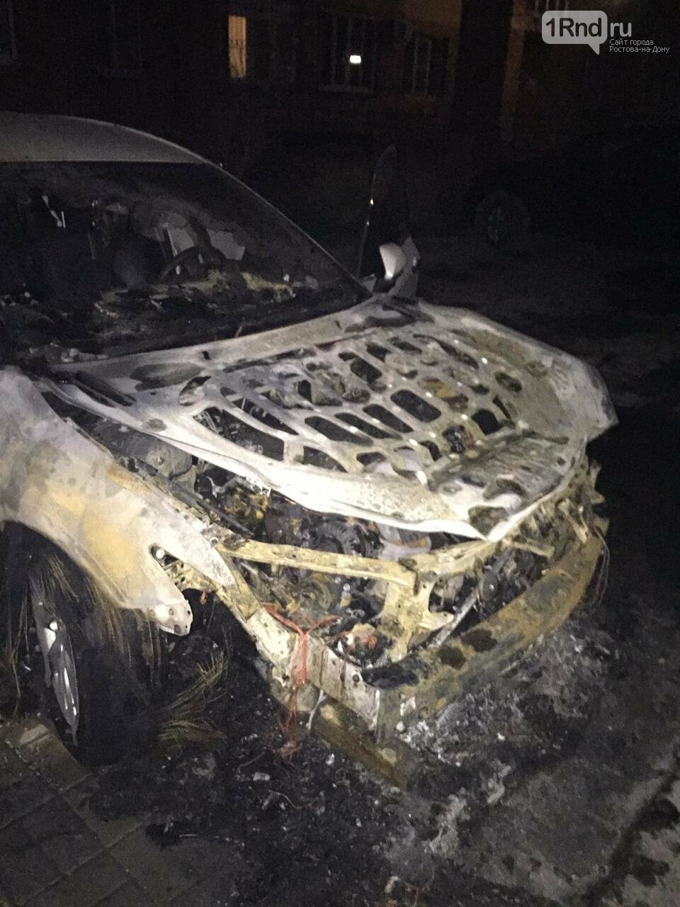 Неизвестный поджёг автомобиль высокопоставленного полицейского из Ростова, фото-1