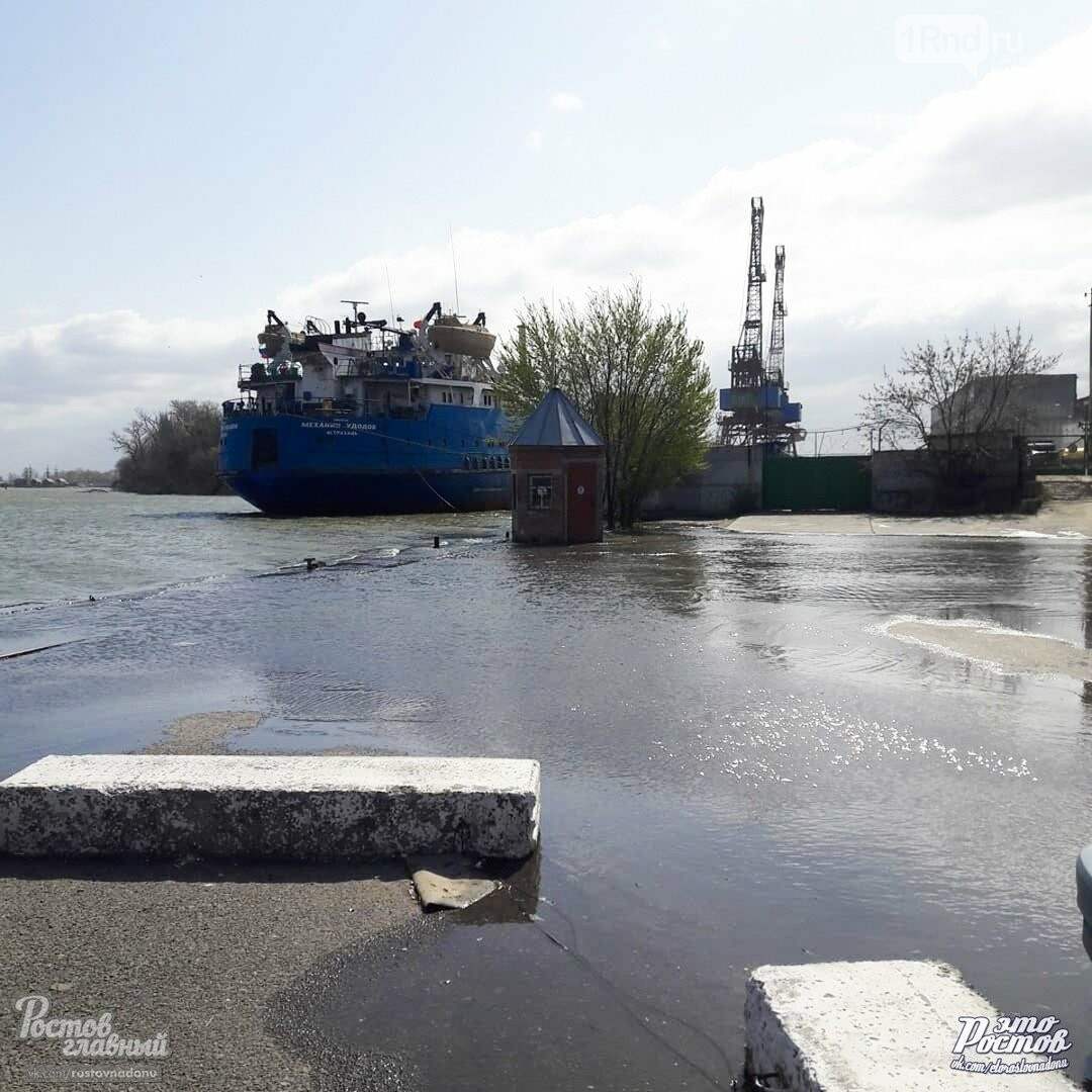 В Азове и Азовском районе Дон вышел из берегов, фото-1