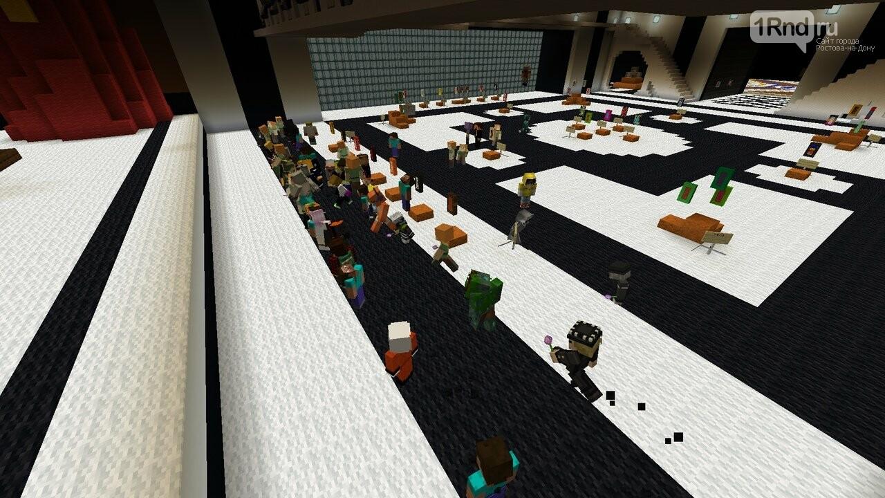 В ДГТУ провели виртуальную выставку на базе онлайн-игры Minecraft, фото-1