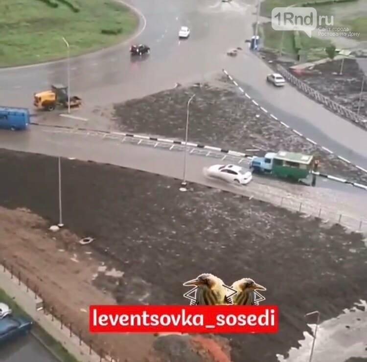 Новая дорога на Левенцовке не прошла испытание ливнем, фото-5