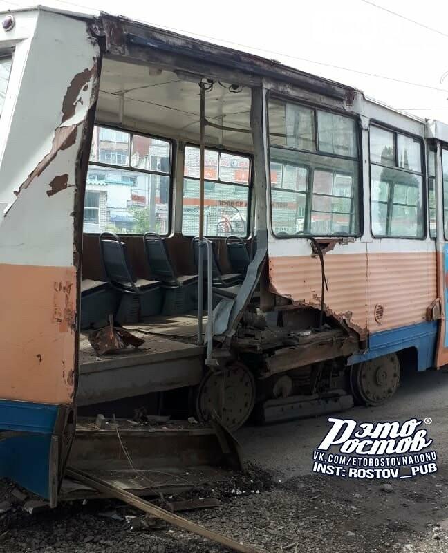 В Таганроге после схода с рельсов развалился трамвай, фото-3