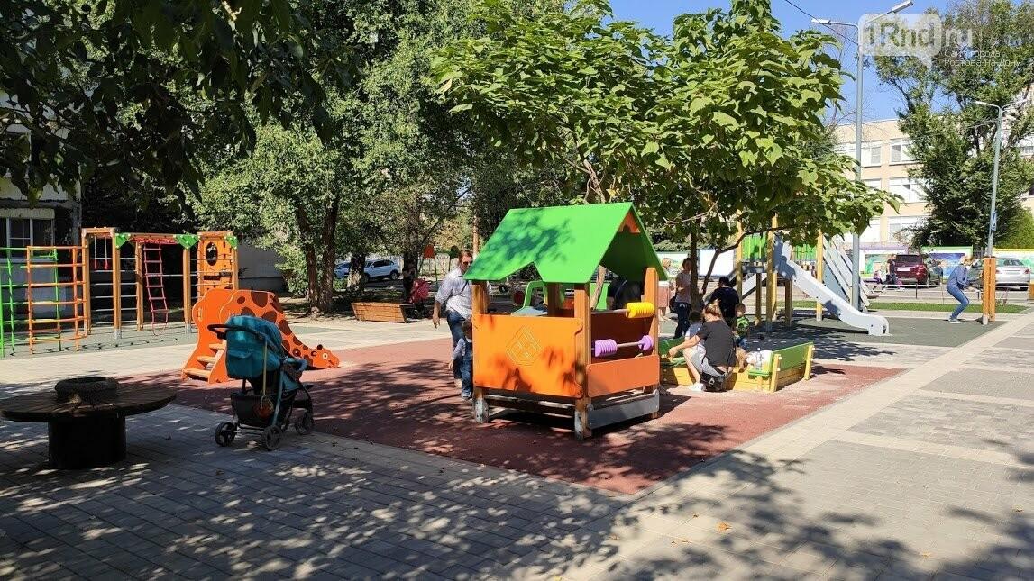 Детская площадка на бульваре Новоселов