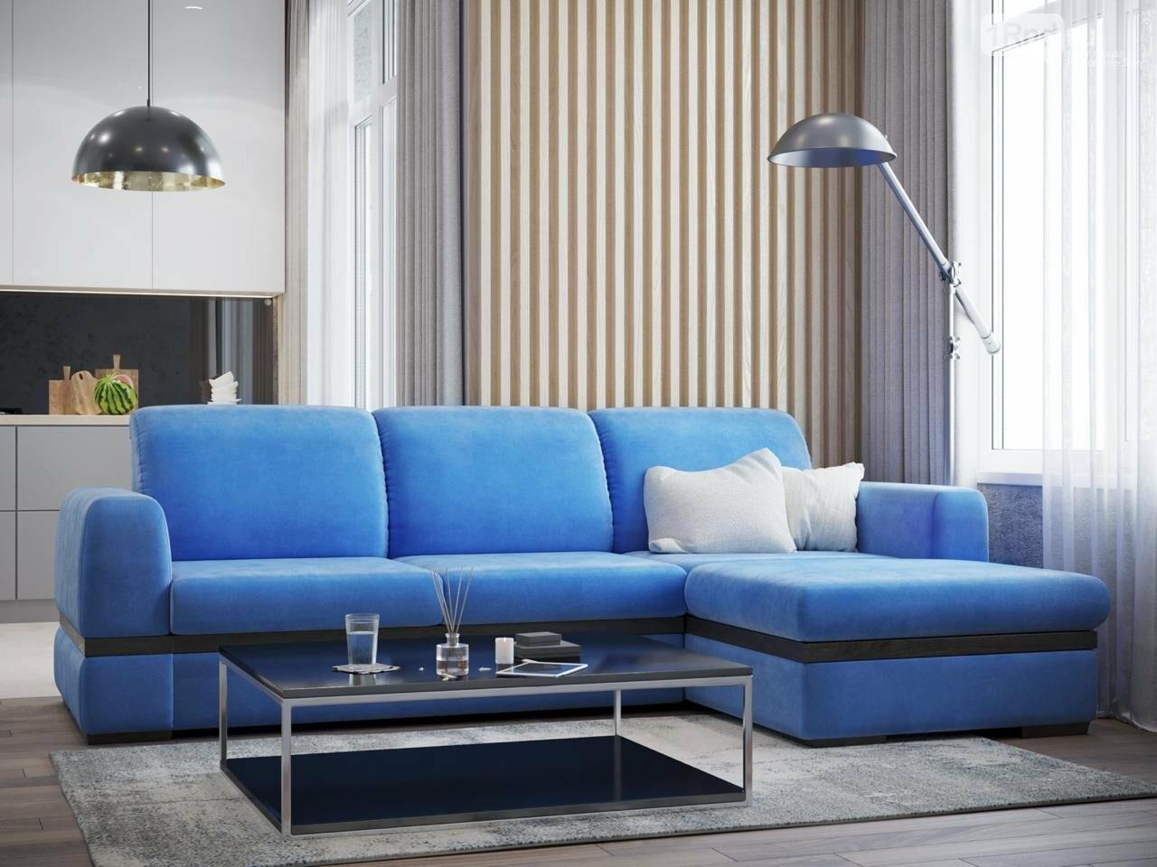 Диваны синего цвета настраивают на отдых