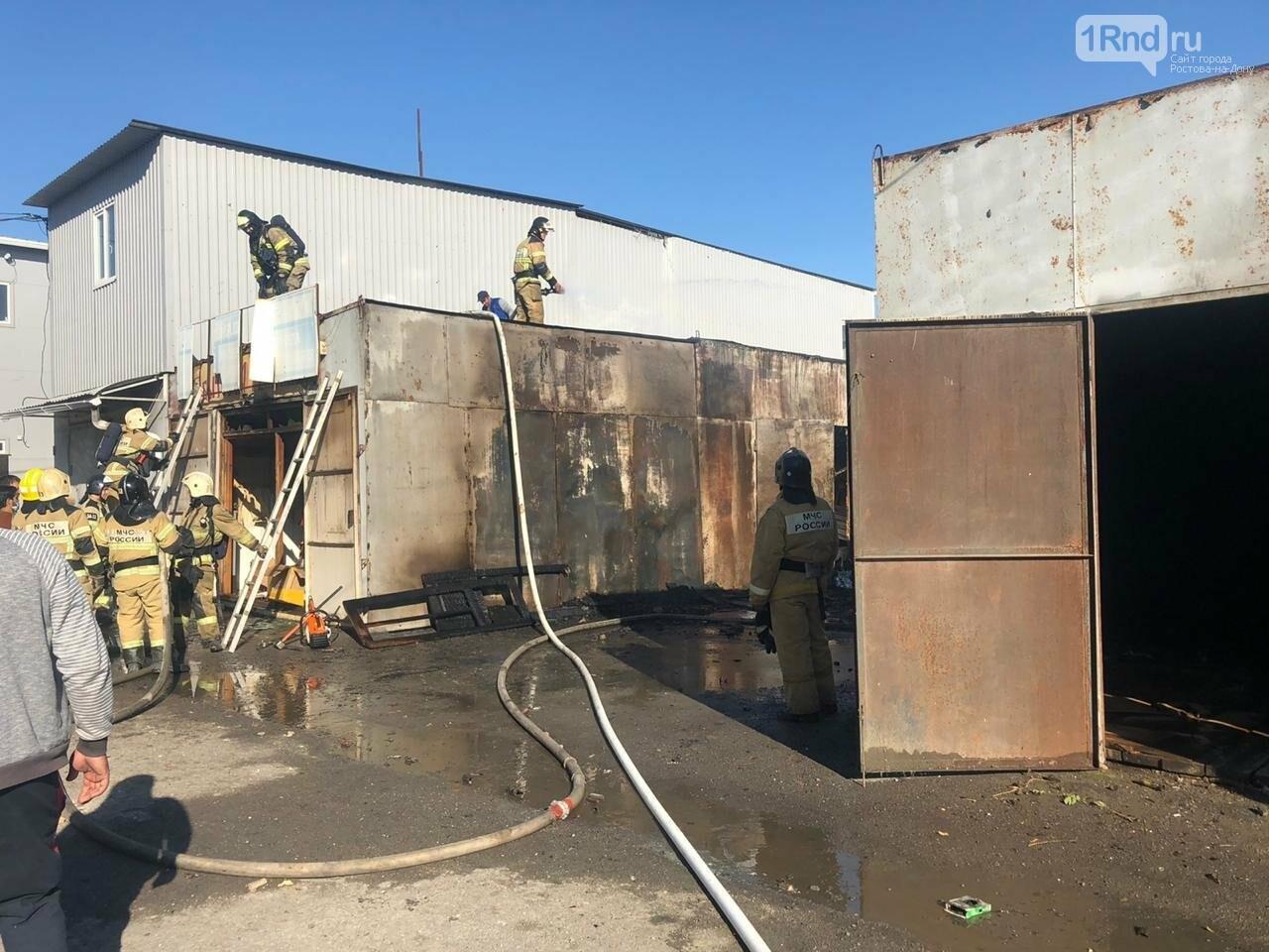 Пожар на складе пиротехники в районе Алмаза, Фото - ГУ МЧС по РО