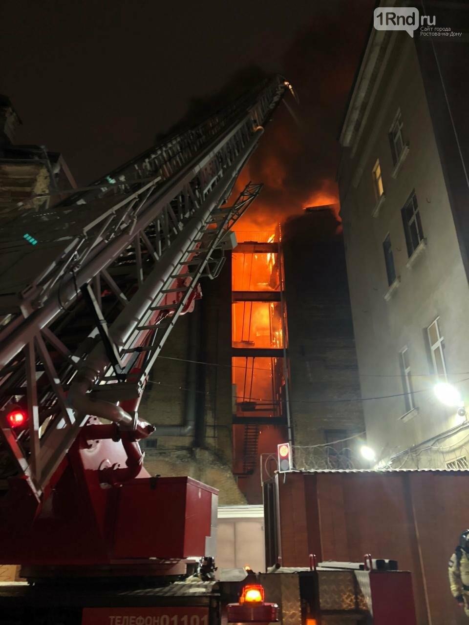 Доходный дом во время пожара