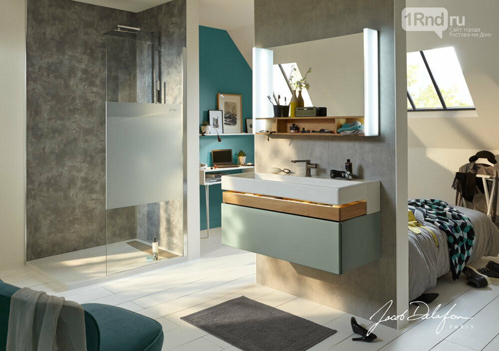 Мебель для ванной Terrace с удобным ящиком для хранения аксессуаров, фото: Jacob Delafon