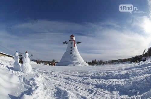 Самый высокий в мире снеговик, Фото: nat-geo.ru