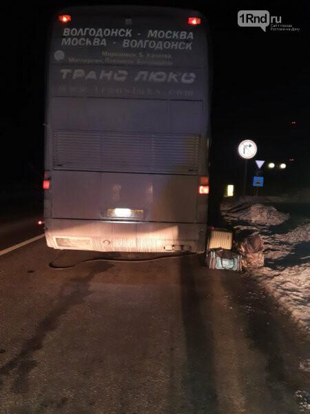 Застрявший автобус, Фото - ГУ МВД по Воронежской области