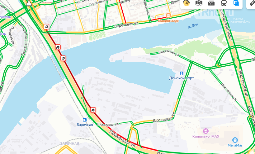 Аварии на мосту Сиверса, Фото - Яндекс. Карты