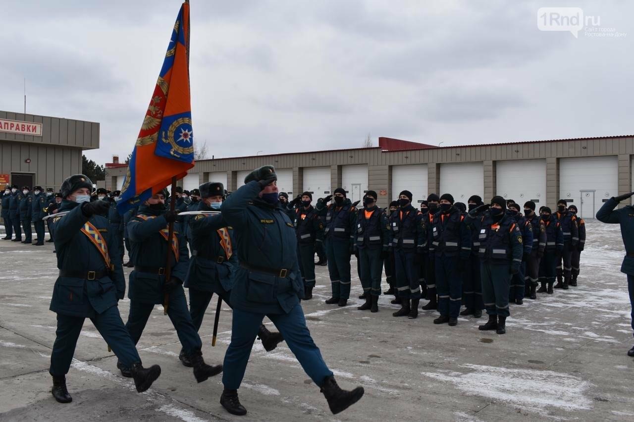 Донских спасателей встретили в поселке Ковалевка