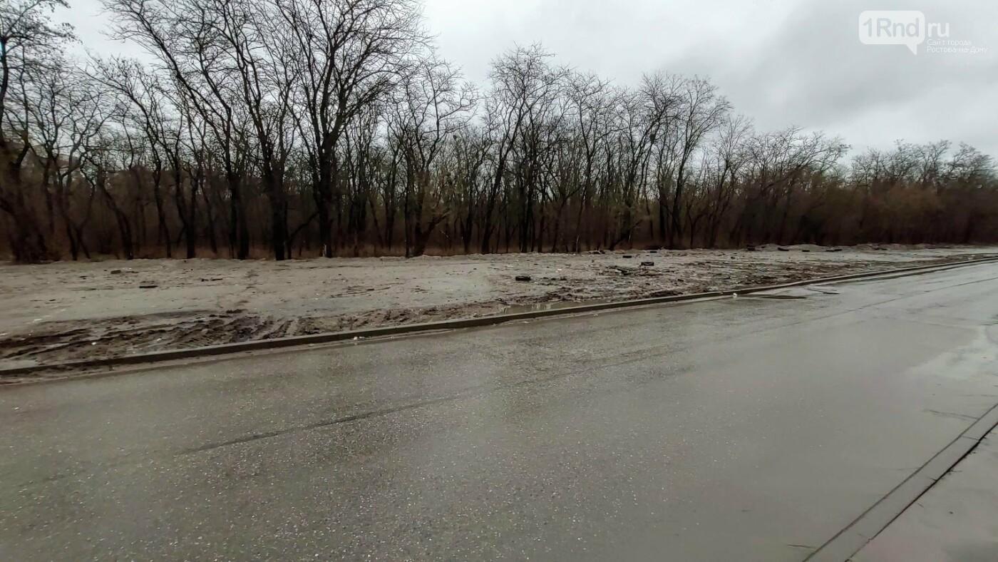 Гидроизоляция на площадке для снега в роще СКА оказалась не очень, Фото читателей 1rnd.ru