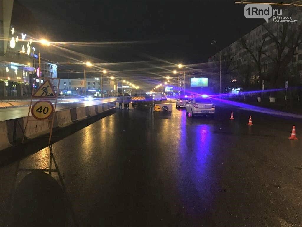 ДТП на Нагибина в Ростове: иномарка врезалась в машину дорожников, Фото ГИБДД РО