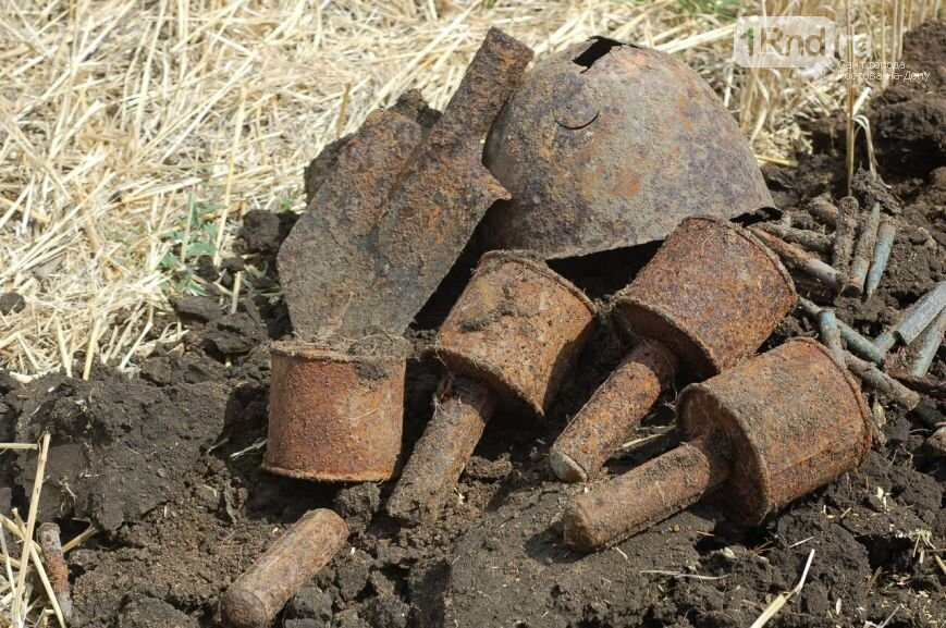 Артиллерийский погреб гитлеровцев отыскали врайоне Миус-фронта