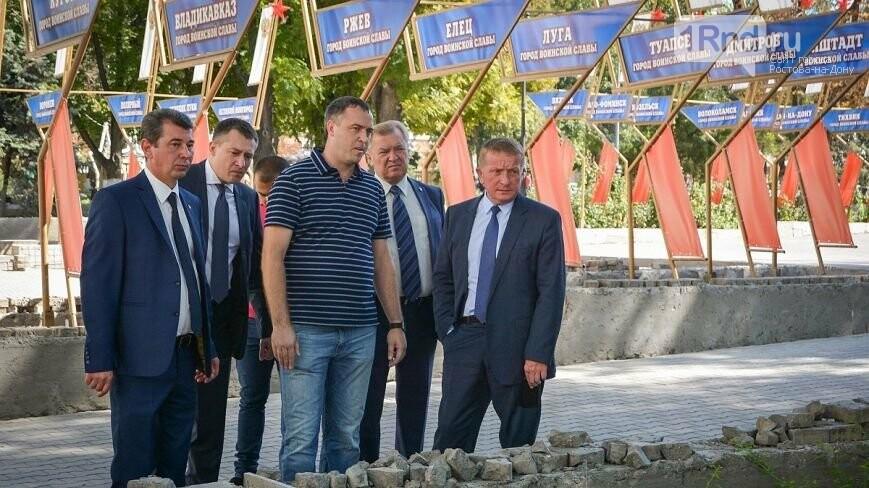 ВРостове полным ходом идет реконструкция площади Советов