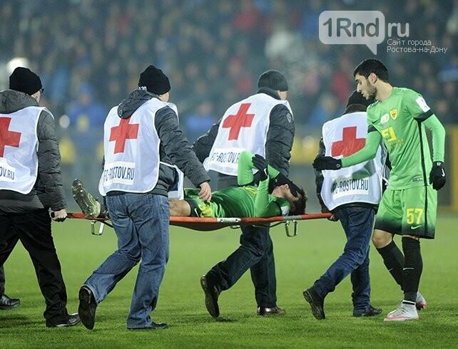 Капитан «Ростова» извинился перед футболистом «Анжи» зананесенную травму