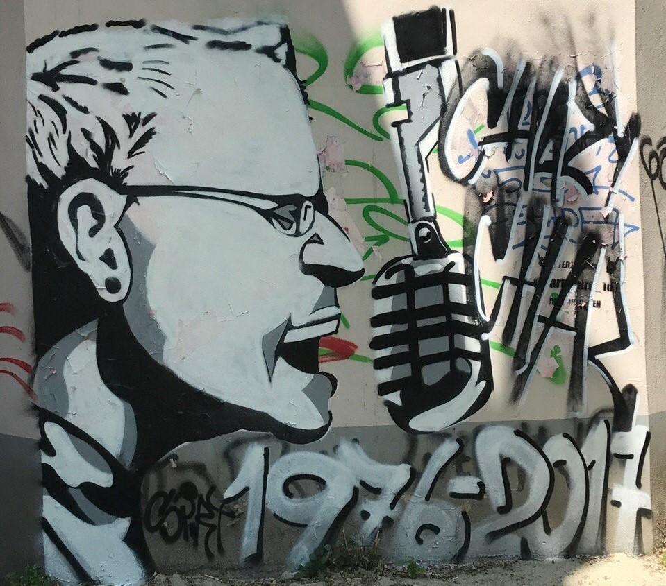 Граффити с изображением умершего солиста Linkin Park появилось в центре Ростова, фото-1