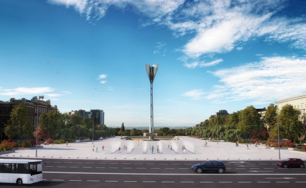 Сквер и «сухой» фонтан хотят сделать на Театральной площади Ростова, фото-1