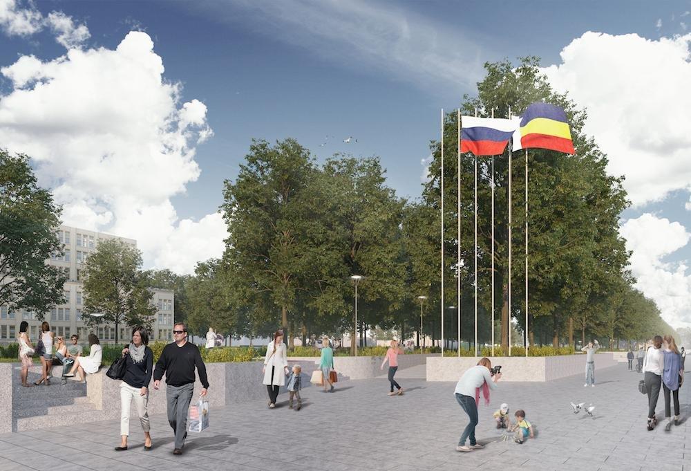 Сквер и «сухой» фонтан хотят сделать на Театральной площади Ростова, фото-11